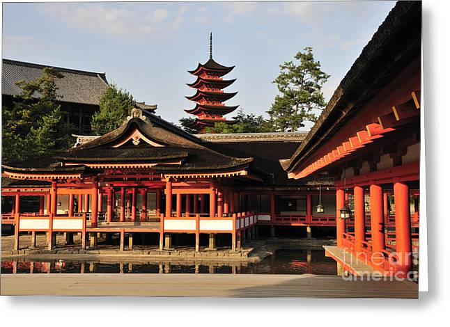 Shinto Greeting Cards - Itsukushima Shrine Miyajima Japan Greeting Card by Andy Smy