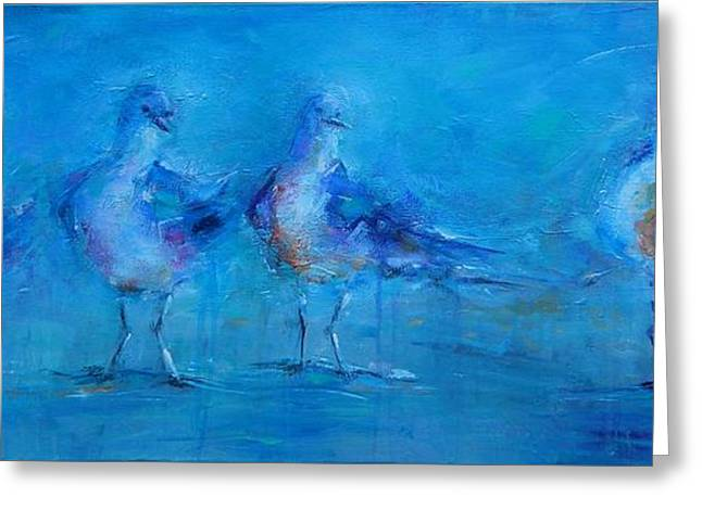 Flying Seagull Greeting Cards - Ive been Waiting Greeting Card by Dan Campbell