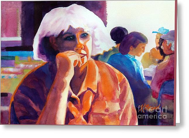 Pondering Paintings Greeting Cards - Ive Got a Secret Greeting Card by Kathy Braud