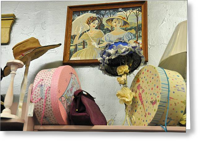 Hat Box Greeting Cards - Ive Got A Secret That I Might Tell Greeting Card by Jan Amiss Photography