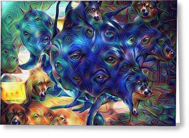 Morphing Greeting Cards - Ive Got Lovin Eyes For You Greeting Card by Jason Loel Smithson