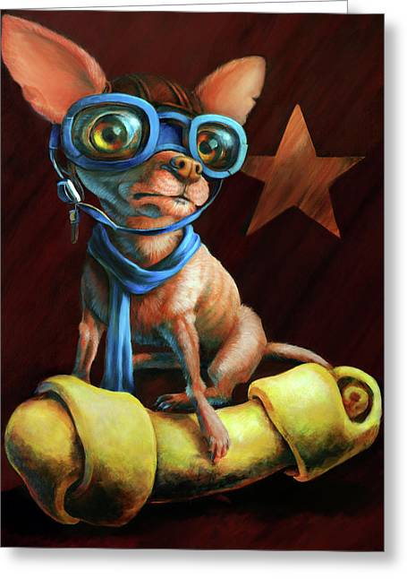 Chihuahuas Greeting Cards - Ive Got Mine Greeting Card by Vanessa Bates