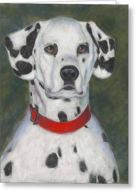 Spotted Dogs Greeting Cards - Ive Spotted You Greeting Card by Billie Colson