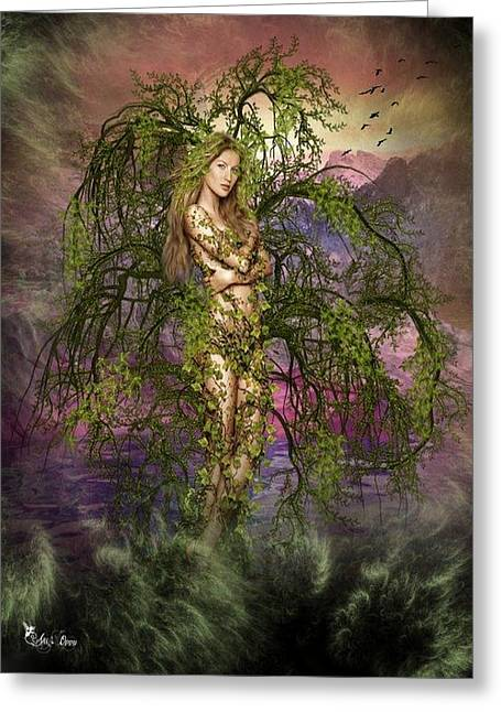 Fantasy Tree Greeting Cards - Ivy Greeting Card by Ali Oppy