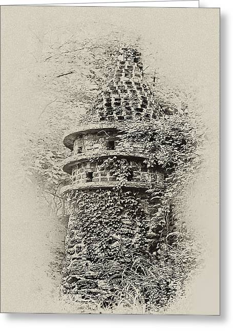 Ivy Covered Castle In The Woods Greeting Card by Bill Cannon