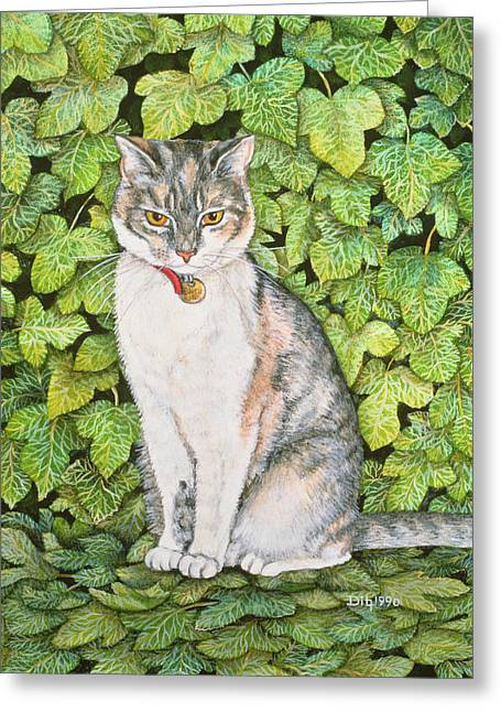 Collar Greeting Cards - Ivy Greeting Card by Ditz
