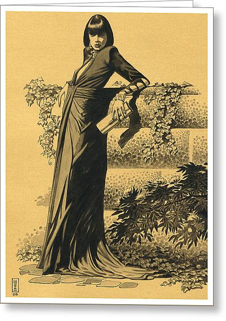 Pen And Ink Drawing Greeting Cards - Ivy Greeting Card by Murray Smoker