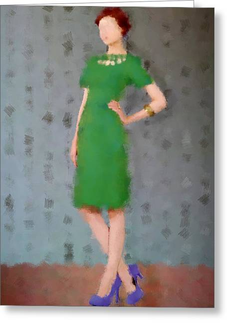 Fashion Art For Sale Greeting Cards - Ivy Greeting Card by Nancy Levan
