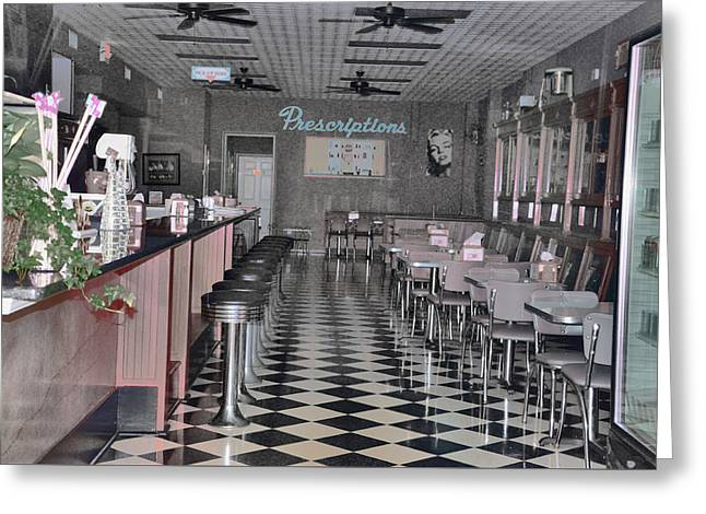 Drugstore Greeting Cards - Izzos Drugstore Greeting Card by Jan Amiss Photography