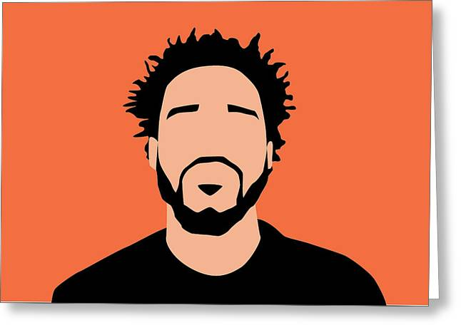 J Cole Minimalist  Greeting Card by Karissa Tolliver