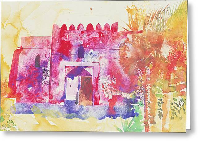 Water Garden Drawings Greeting Cards - Jabreen walls Greeting Card by Simon Fletcher