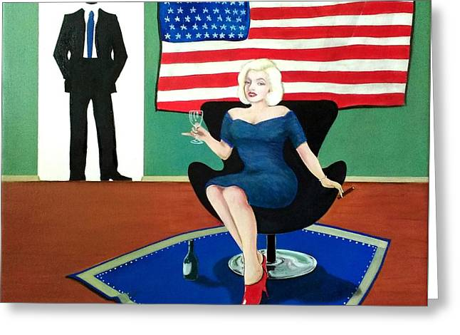 Jack And Marilyn Greeting Card by John Lyes