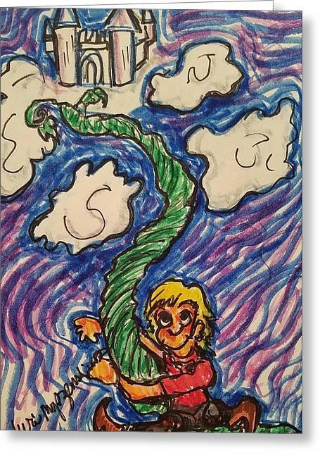 Jack And The Beanstalk Greeting Card by Geraldine Myszenski