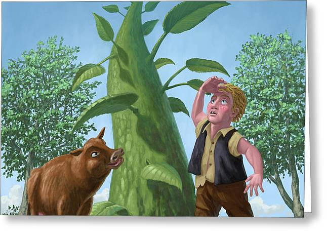 jack and the beanstalk Greeting Card by Martin Davey