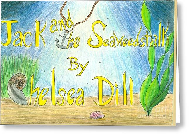 Jack And The Seaweestalk Book Cover Greeting Card by CE Dill