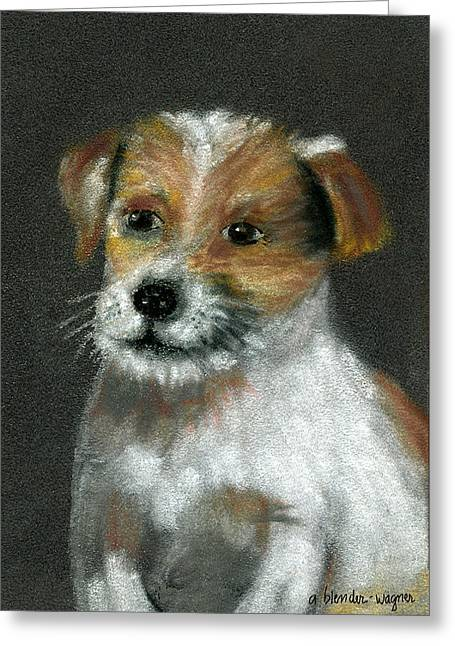 Puppies Pastels Greeting Cards - Jack Greeting Card by Arline Wagner