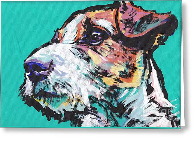 Jack Russell Terrier Greeting Cards - Jack Be Nimble  Jack Russell Terrier Greeting Card by Lea