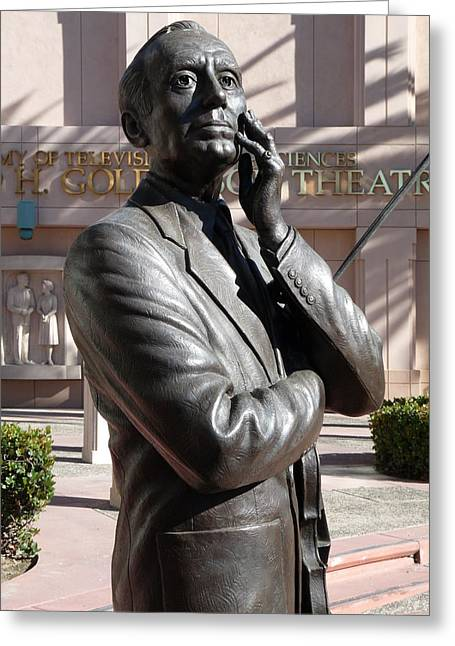 Statue Of Jack Benny Greeting Cards - Jack Benny Greeting Card by Jeff Lowe