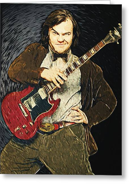 Alternative Home Decor Greeting Cards - Jack Black Greeting Card by Taylan Soyturk