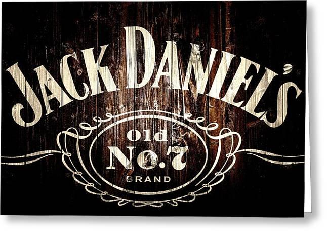 Jack Daniel's Barn Door Greeting Card by Dan Sproul