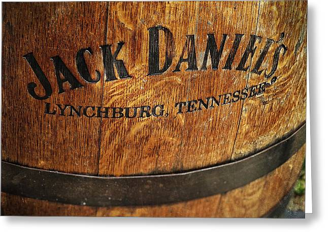 Nashville Tennessee Greeting Cards - Jack Daniels Barrel Greeting Card by Lisa OConnor
