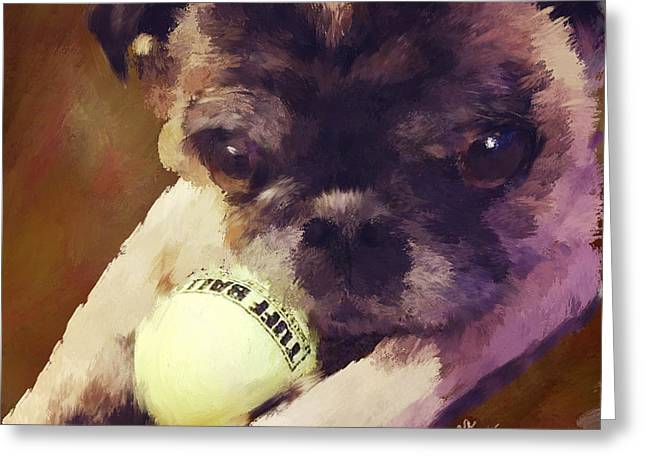 Puppies Mixed Media Greeting Cards - Jack Greeting Card by Diana Ralph