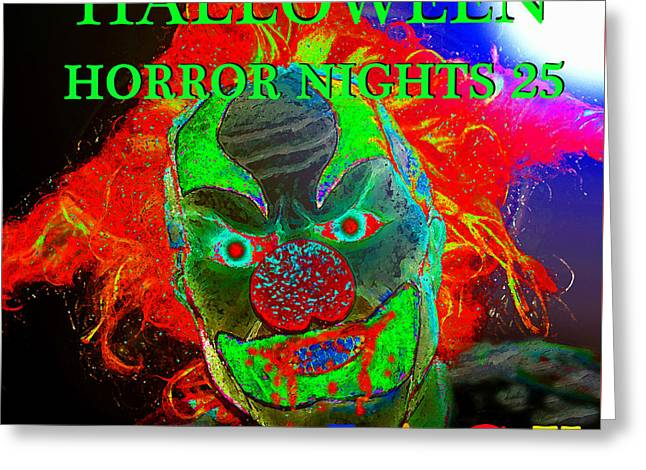 Jack-in-the-box Greeting Cards - Jack is back HHN 25 poster art B Greeting Card by David Lee Thompson