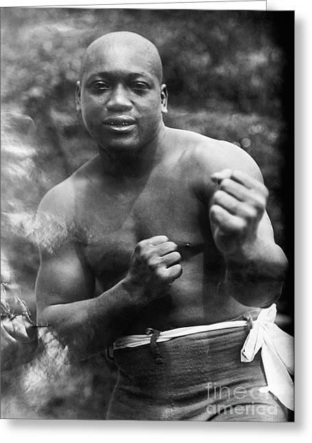 Fist Greeting Cards - Jack Johnson (1878-1946) Greeting Card by Granger