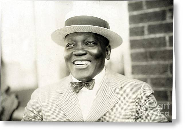 Jack Johnson, American Boxer Greeting Card by Science Source
