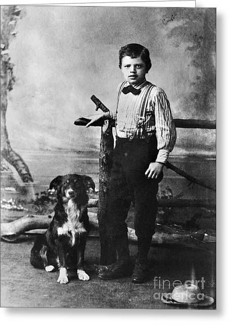 1880s Greeting Cards - Jack London (1876-1916) Greeting Card by Granger