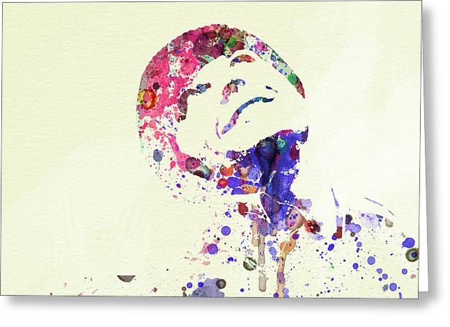 Film Watercolor Greeting Cards - Jack Nicholson Greeting Card by Naxart Studio