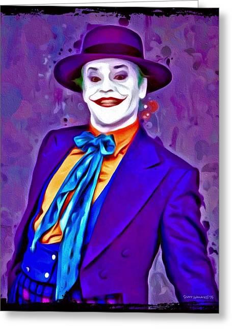 Award Greeting Cards - Jack Nicholson The Joker Greeting Card by Scott Wallace