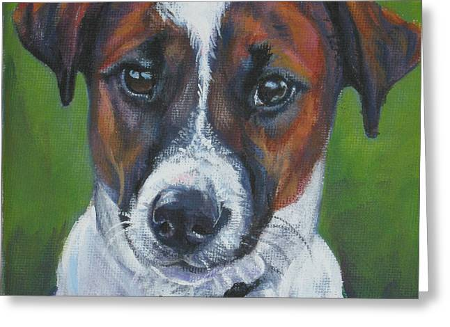 Jack Russell Terrier Greeting Cards - Jack Russell Terrier Greeting Card by Lee Ann Shepard