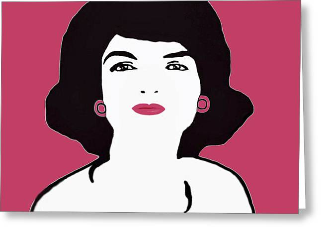 Lady Washington Greeting Cards - Jackie in Pink Greeting Card by Jost Houk