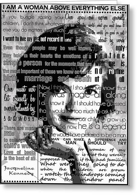 Recently Sold -  - Ev-in Greeting Cards - Jackie Kennedy Quotes Greeting Card by Nostalgic Art