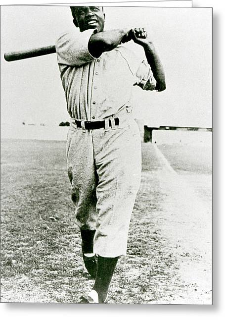 Jackie Robinson Greeting Card by American School