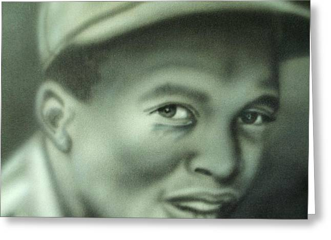 Jackie Robinson Greeting Card by Scott Easom