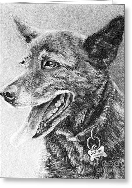 Shepherds Greeting Cards - Jackson Greeting Card by Chad Keith