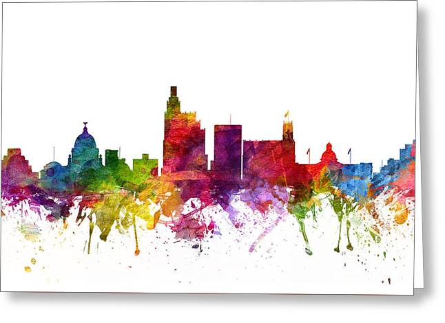 Jackson Greeting Cards - Jackson Cityscape 06 Greeting Card by Aged Pixel