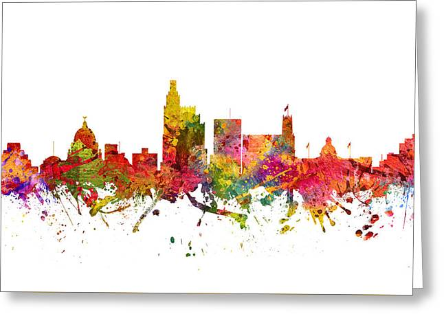 Jackson Greeting Cards - Jackson Cityscape 08 Greeting Card by Aged Pixel