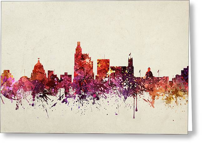 Jackson Greeting Cards - Jackson Cityscape 09 Greeting Card by Aged Pixel