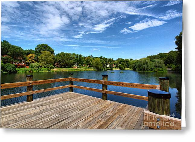 Valerie Morrison Greeting Cards - Jackson Pond Greeting Card by Valerie Morrison
