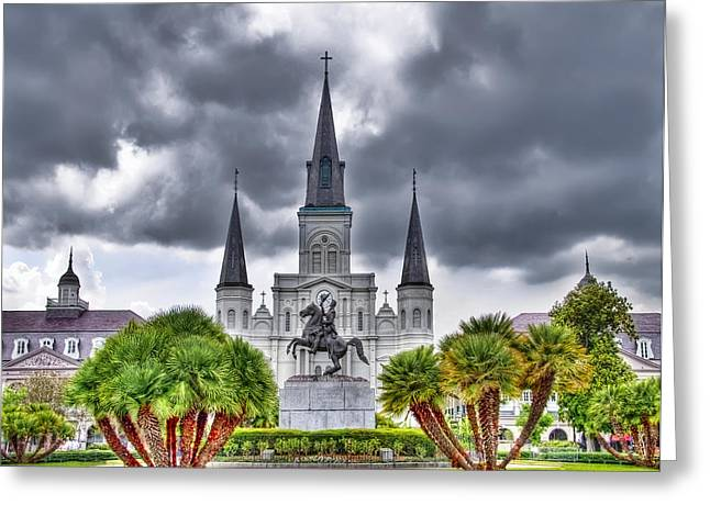 Jackson Square New Orleans Greeting Card by Tammy Wetzel