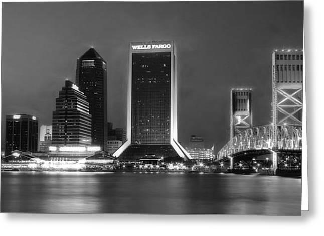 Jacksonville At Night Greeting Card by Lori Deiter