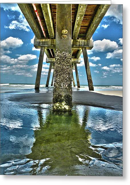 Jacksonville Greeting Cards - Jacksonville Beach Pier Greeting Card by Joe Hickson