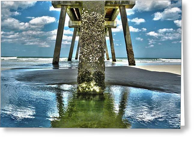 Jacksonville Beach Pier Greeting Card by Joe Hickson