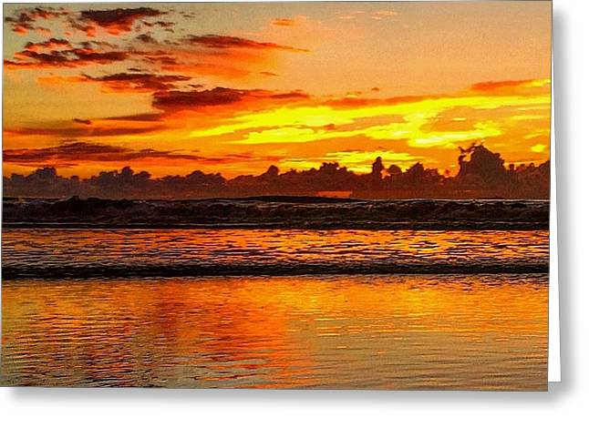 Jacksonville Greeting Cards - Jacksonville Beach Sunrise Greeting Card by Mary Lewis