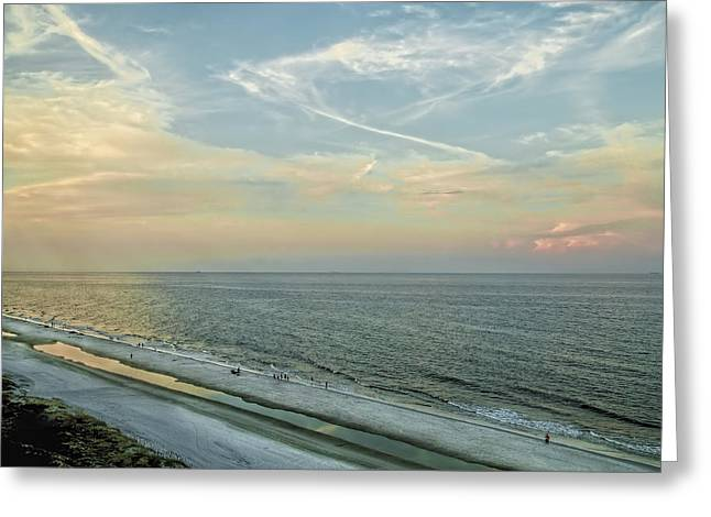 Jacksonville Greeting Cards - Jacksonville Beach Sunset Greeting Card by Kay Brewer