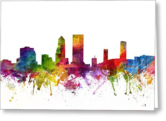 Jacksonville Greeting Cards - Jacksonville Cityscape 06 Greeting Card by Aged Pixel