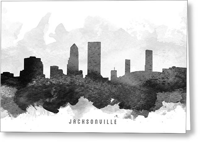 Jacksonville Digital Greeting Cards - Jacksonville Cityscape 11 Greeting Card by Aged Pixel